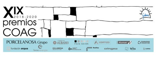 Publicación das candidaturas aos XIX Premios COAG de Arquitectura