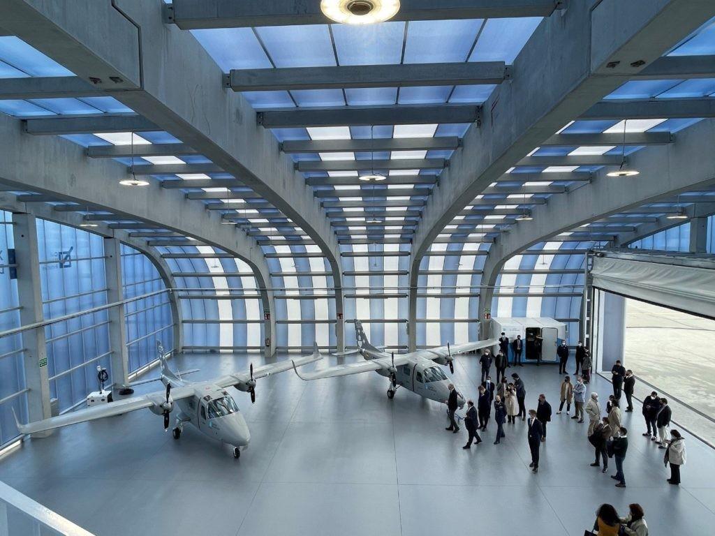 Hangar para drones de Indra en el polo aeroespacial de Rozas, Castro de Rei (Lugo), inaugurado el 18 de mayo de 2021.
